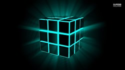 3D Wallpapers Neon cube wallpaper