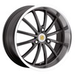 Smart Car Wheels by Genius - the Darwin style in Gunmetal