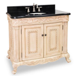 Hardware Resources VAN011-T - van011-t antique white ornate Bathroom Vanity with preassembled top and bowl by lyn design.