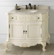 """RonBow 072936 Bordeaux 36"""" Antique Style Vanity Cabinet with Two Doors and Two Drawers"""