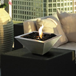 Anywhere Fireplace Empire Indoor/Outdoor Fireplace with Polished Black Rocks 90295