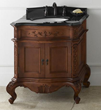 """RonBow 072930 Bordeaux 30"""" Antique Style Vanity Cabinet with Two Doors"""