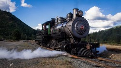 Working 1920's Era Steam Logging Locomotive at Mt. Rainier Scenic Railroad