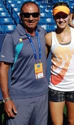Nick Saviano with Canadian WTA tennis star Eugenie Bouchard