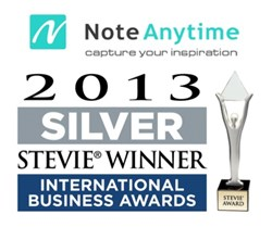 stevie award winner, award winning note taker, note anytime, notetaking pdf, best note taking app