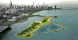 Rendering of Northerly Island, Chicago, IL