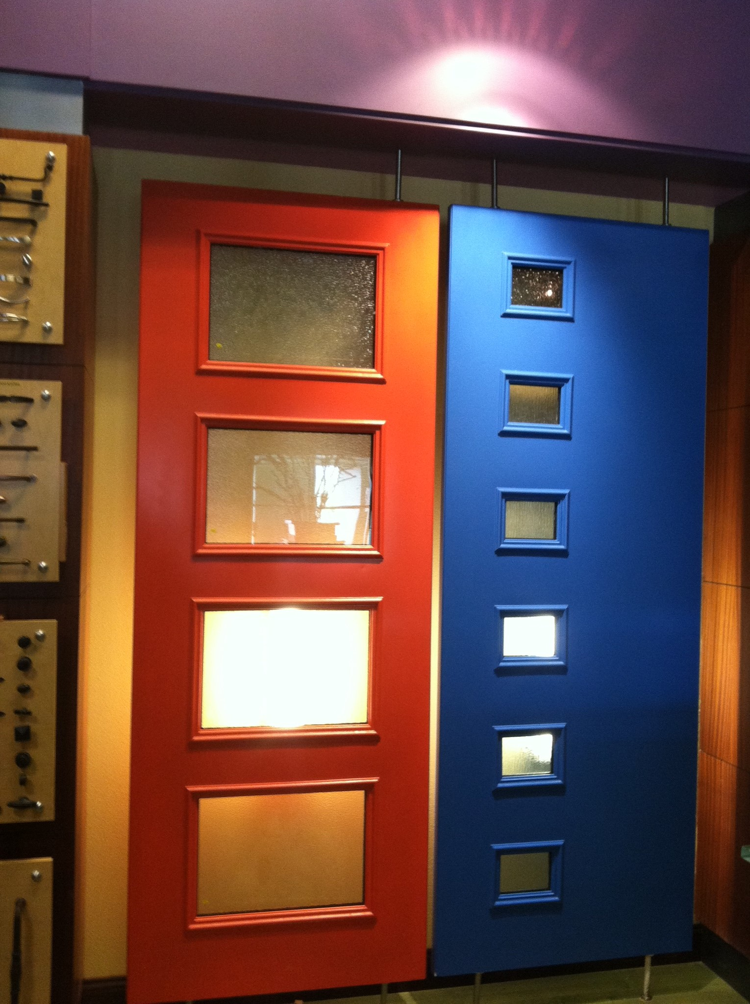 Mid century modern closet doors - Colorful Therma Tru Pulse Doors Complement Various Home Styles