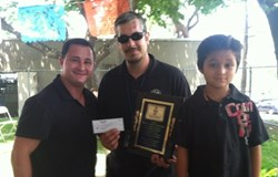 Lou Costello Charity Tent of Paterson NJ Makes Donation to Lou Costello Jr. Youth Center in Los Angeles, CA