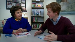 Dr. Sally Shaywitz, co-founder of the Yale Center for Dyslexia & Creativity, shares insights with Dylan Redford, an aspiring college student who is dyslexic