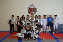 First Fencing Team at Academy of Fencing Masters