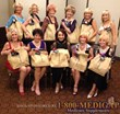 Ms Senior California Contestants posing with their sponsored bags from 1800MEDIGAP