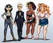 pOny girls at 40, left to right; Yoshiko Yomano, Odette Cruz, Pauline Tharpe & Nina Lee