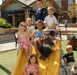 Southlands Shopping Center in Aurora, CO installed two outdoor playgrounds to attract more families.