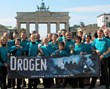 "Say No to Drugs, Say Yes to Life"" volunteers of the Church of Scientology of Berlin promoting drug-free living at the Brandenburg Gate."