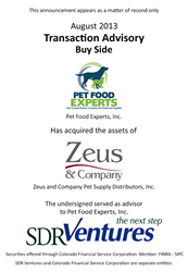 Pet Food Experts Acquires Zeus & Co.