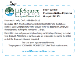 RX Discount Card From LifeSource Direct