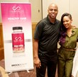 Kevin Fraizer and Megan Goode with Hairfinity at MegaFest