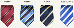 These Limited Edition Military Ties not only Honor our Servicemen, But Also Serve a Good Cause