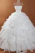 Pretty Ball Gown Beading Ruffles Long Wedding Dress