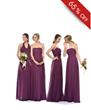 Fashionable Crystal Sheath/Column Halter Floor-Length Bridesmaid Dress at Tidebuy