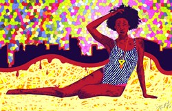 "Summer Fashion Art ""Mona Sur La Plage Urbaine"""