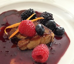 Seared Foie Gras with Cabernet Balsamic Berry Reduction