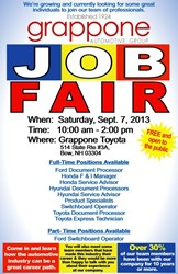 Job Fair, Grappone, Grappone Job Fair, Sales, Hiring