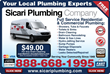 Call 888-668-1995 for the Best La Canada Plumber: Sicari Plumbing