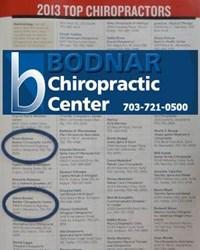 Alexandria VA Chiropractor Bodnar Chiropractic Center Top Chiropractors 2013