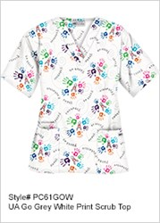Uniform Advantage scrub top childhood cancer