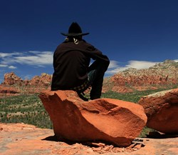 Country music star Keith Burrows at the Grand Canyon
