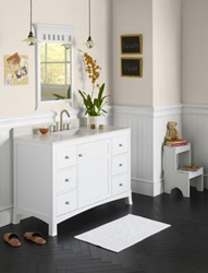 "RonBow 050548-3 Hampton 48"" Wood Vanity Cabinet with Single Door, Six Drawers and Adjustable Shelf"