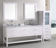 "Design Element London 72"" Double Sink Bathroom Vanity Set in Pearl White (DEC077B-W)"