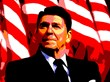 Ronald W. Reagan, 40th President of the United States, 1981-89.