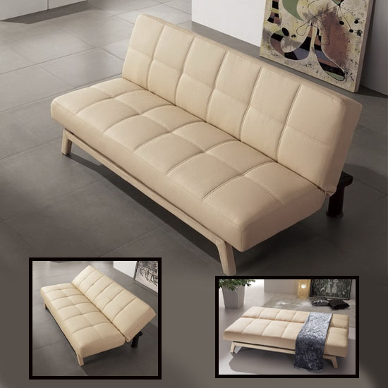 sxs events recently buys paris cream faux leather sofa beds from furnitureinfashion. Black Bedroom Furniture Sets. Home Design Ideas