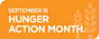 September is Hunger Awareness Month and ServiceMaster by Singer is Helping to Raise Awareness