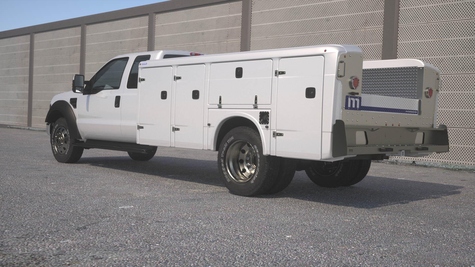 Maranda Composite Service Body Ca on Dodge Ram Building
