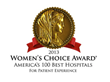 Jordan Valley Medical Center Receives 2013 Women's Choice Award® for America's 100 Best Hospitals for Patient Excellence by WomenCertified, Inc.
