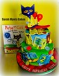 Myer's Pete the Cat cake featuring books made with edible images