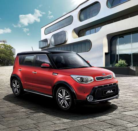 kia reveals all new soul compact suv for 2014. Black Bedroom Furniture Sets. Home Design Ideas