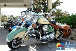 motorcycle at Daytona Bahama House Hotel