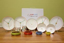 Complete SlimPlate System, a 13 piece portion control kit.
