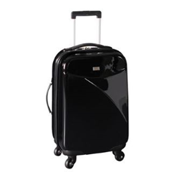 No Fear 4 Wheel Hard Shell Suitcase