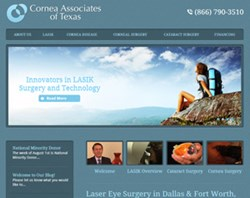 Cornea Associates of Texas • Image of Homepage for www.corneatexas.com • map