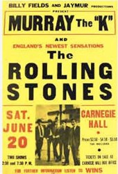 1964 Rolling Stones Carnegie Hall Boxing Style Concert Posters