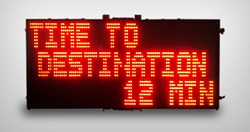 instalert variable message sign; time to desination