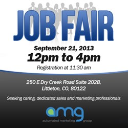 AMG is Hiring! Join us on September 21st for our Job Fair!