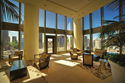 The Legacy at Millennium Park features two hospitality rooms with adjoining sky-garden terraces.