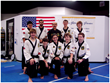 Mr. Prieto with black belts and instructors