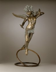 """The Angel Trilogy"" Guardian II Bronze Sculpture by James Farris"